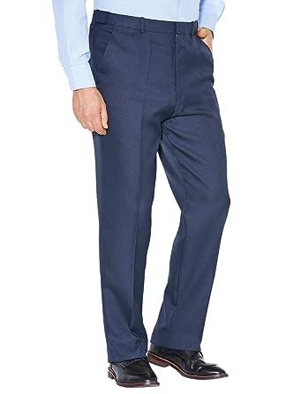 02ddb4032de Chums Mens Stretch Waist Formal Smart Work Trouser Pants  Amazon.co.uk   Clothing
