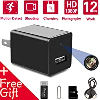 Hidden Spy Camera USB Charger | Full HD 1080P Spy Camera with 32GB Memory Card | Motion Detection Loop Video Record Hidden Security Camera[No Wi-Fi Needed]