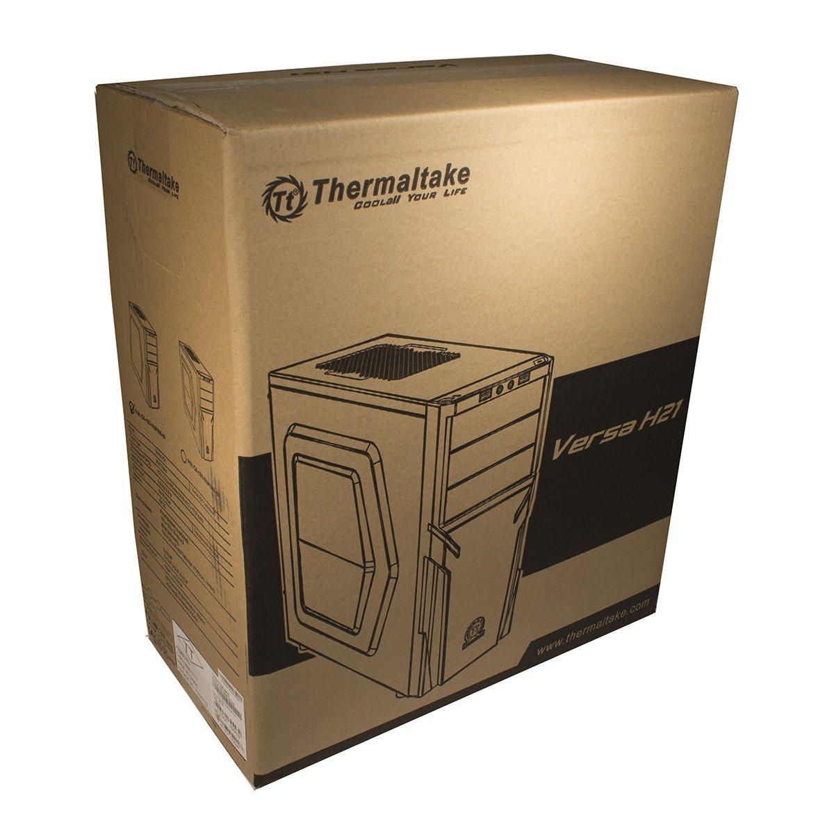 schwarz Thermaltake VERSA H23 MIDI Tower Geh/äuse 1x USB 2.0//USB 3.0