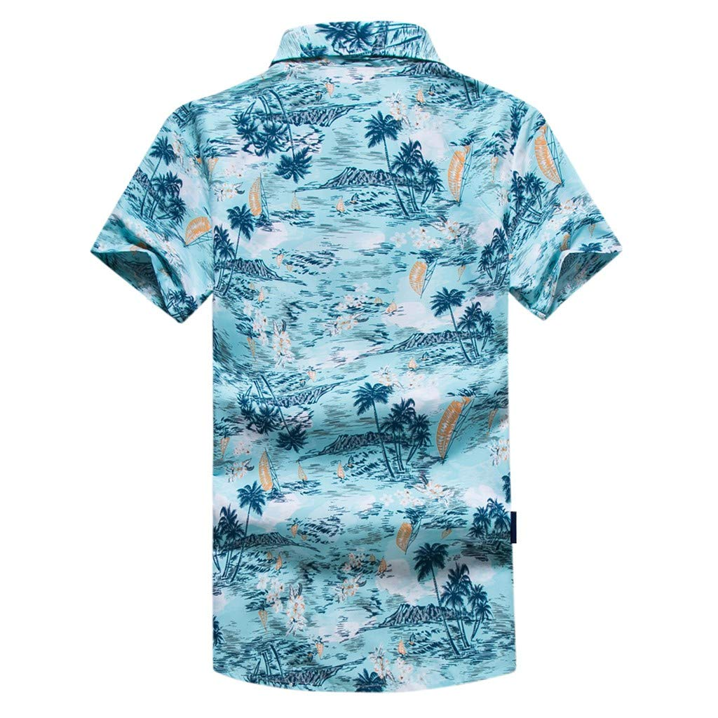 Danhjin Plus Size Funky Hawaiian Shirt for Men Short-Sleeve Hawaiian-Print Every Shirt is a Unique Mix Beachdesigns M-5XL