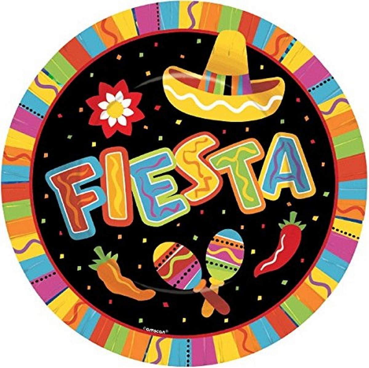 Fiesta Cinco De Mayo Party Round Dinner Plates, 8 Ct.   Party Tableware