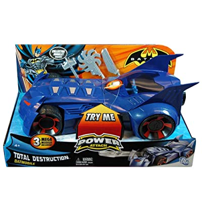 Batman Power Attack Batmobile Vehicle: Toys & Games
