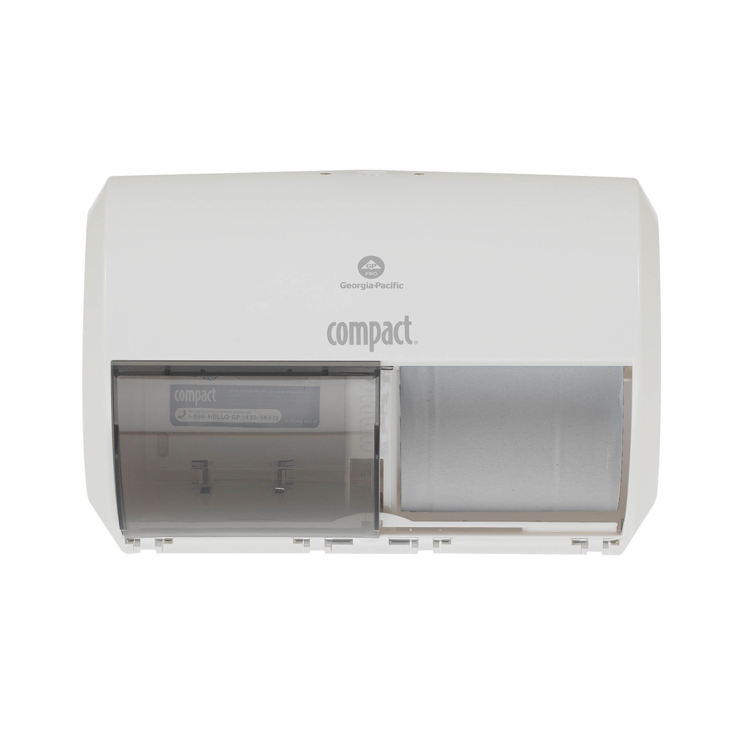 Georgia-Pacific Consumer Products 56797A Compact Toliet Paper Dispenser, High Capacity, White ()