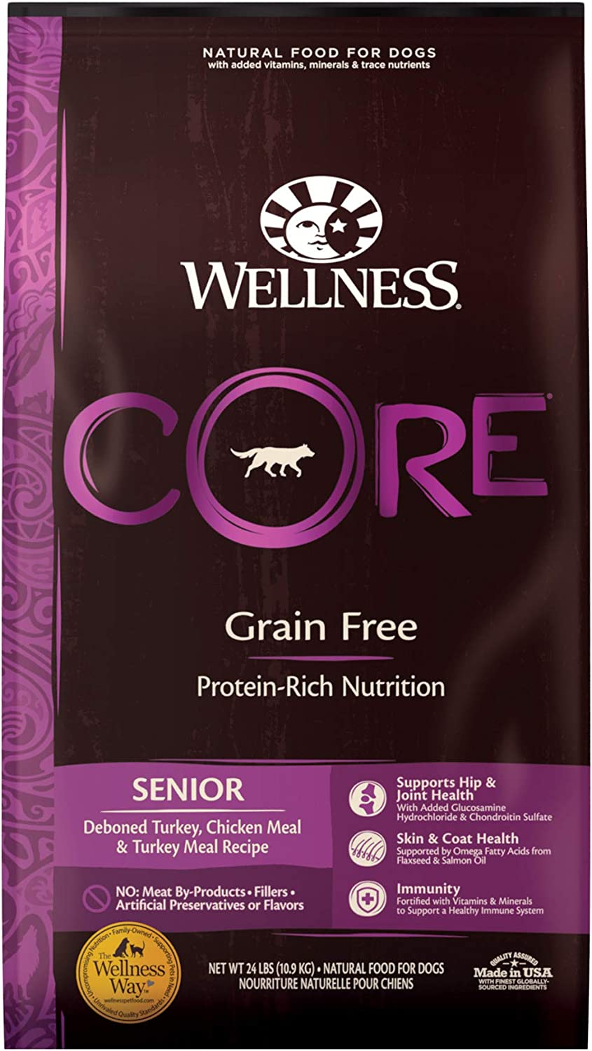Wellness CORE Natural Grain Free Dry Dog Food, Senior