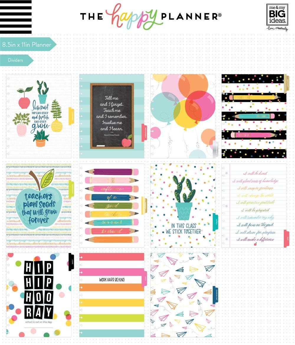 me & my BIG ideas The Happy Planner Teacher Planner, Big Teachers Have Class, August 2019-July 2020 (PLNB-38) by Me & My Big Ideas