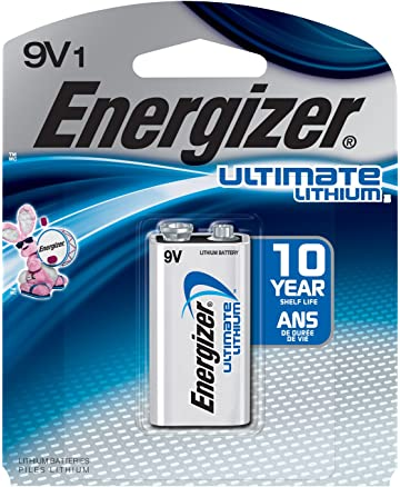 Energizer Ultimate Lithium 9V Battery, Long-Lasting Power, 100% Leak Proof Design