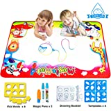 FishOaky Doodle Drawing Mat, 87*58cm Aquadoodle Mats 4 Colors Large Water Aqua Doodle Mat Educational Toys & Merry Xgift for Boys Girls Toddler Age 3-12