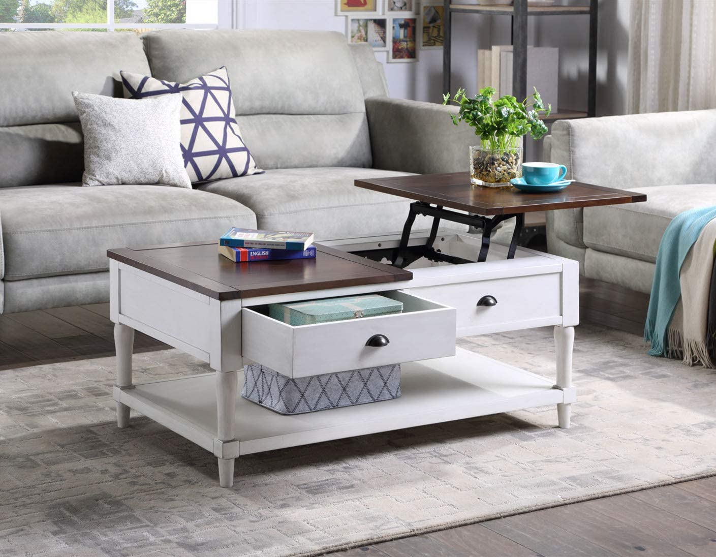 SSLine Lift Top Wooden Coffee Table