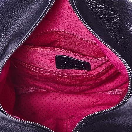 Barbie Sac /à Dos noir Irr/égulier de la s/érie de Mode Simple Loisir en Vogue style Fashion Individualit/é Femmes//Filles en PU Cuir # BBBP093.01A