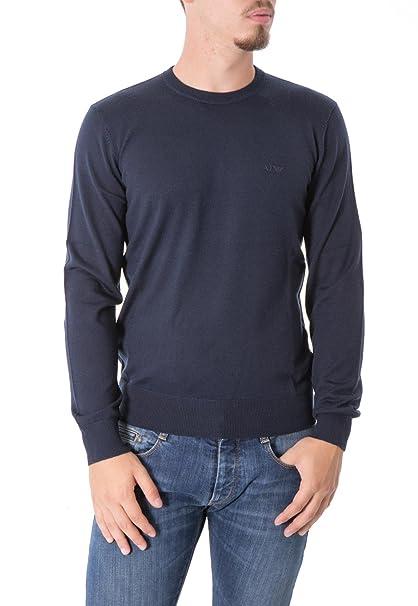 uusi tyyli ei myyntiveroa uusi halpa ARMANI JEANS - Men's crew neck pullover 8n6m91 6m12z xl blue ...