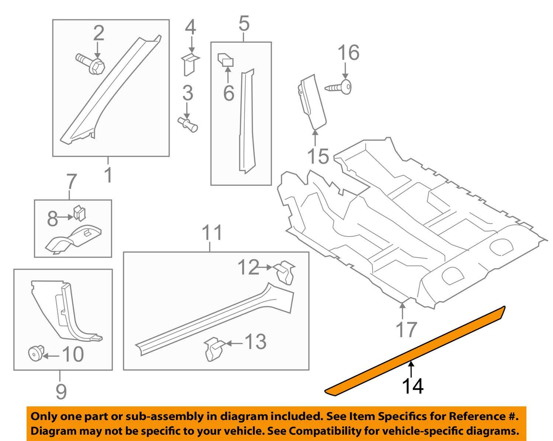Volkswagen VW OEM 09-16 Eos Interior-Protect Strip Left 1Q0853803BN88