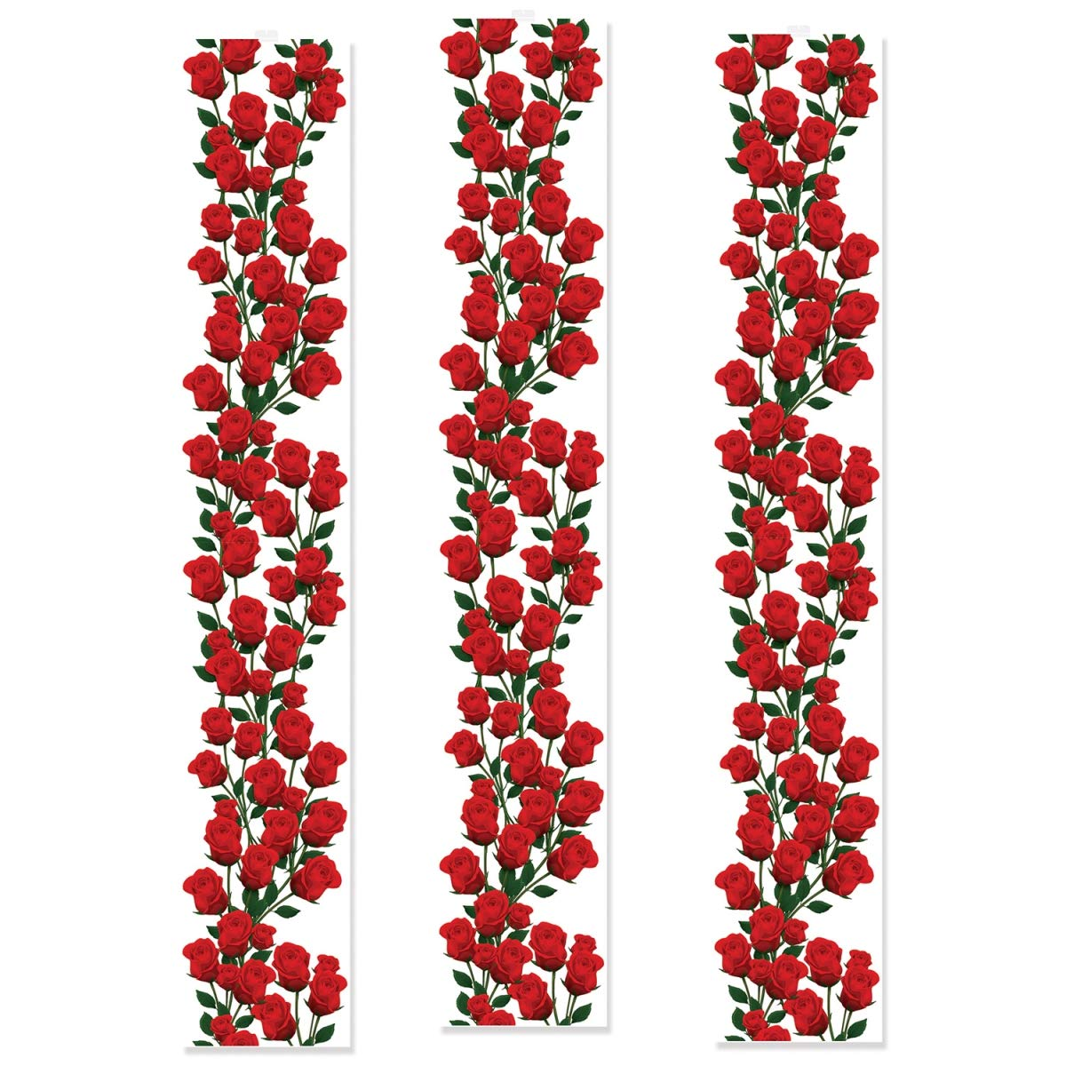 Beistle 54967 12 in. x 6 ft. Roses Party Panels - Pack of 12 by Beistle (Image #1)