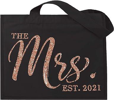 Bridal Shower Gift Carryall Engagement Gold Bridal Tote Jumbo Bride Tote Bride Bag: The Mrs EST 2019 Tote Bag Bachelorette Party