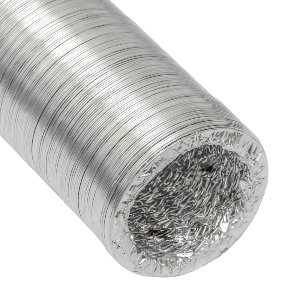 10m Tuyau en Alu flexible extensible r/ésistant /à la chaleur de eyepower Gaine Aluminium /Ø100mm pour hotte extracteur dair a/érateur climatiseur