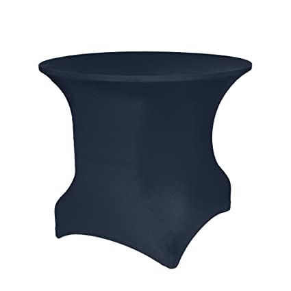 Superb Ultimate Textile Round Spandex Stretch Tablecloth   Fitted Covers For 4 Ft.  Round Tables 30u0026quot