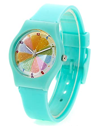 silicone sports wrist unisex hugerect watches product jelly women watch on mint green