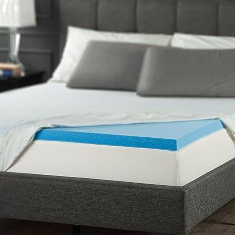 Amazon Com Zinus 2 Inch Gel Memory Foam Mattress Topper Queen Home Kitchen