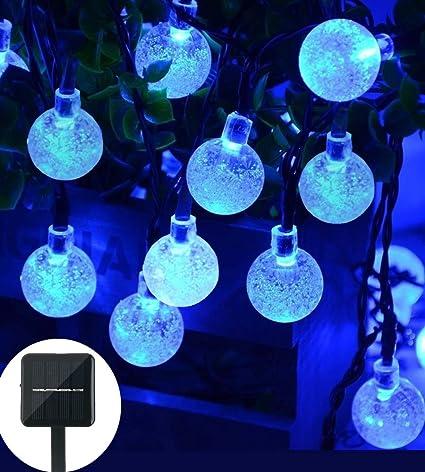 Amazon christmas solar string light 20ft 30led fairy string christmas solar string light 20ft 30led fairy string lights bubble crystal ball lights decorative lighting for aloadofball Gallery