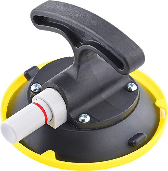 "ZUOS 4.5"" Suction Cup Pump Active, T-Handle Vacuum Lifter with Concave Plate for Flat/Curved Surface, Car Dent Puller/Glass Holder Hooks (4.5"" Suction Cup)"