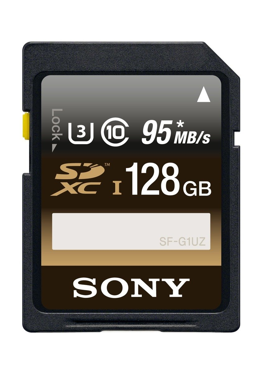 Sony 128GB High Performance Class 10 UHS-1/U3 SDHC up to 95MB/s Memory Card (SF16UZ/TQN) by Sony
