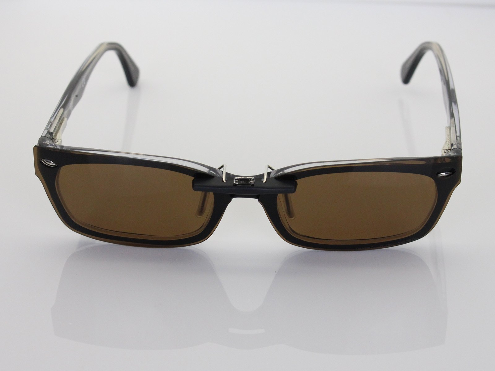 Custom Fit Polarized CLIP-ON Sunglasses For Ray-Ban RB5150 48X19 Brown by COODY (Image #4)