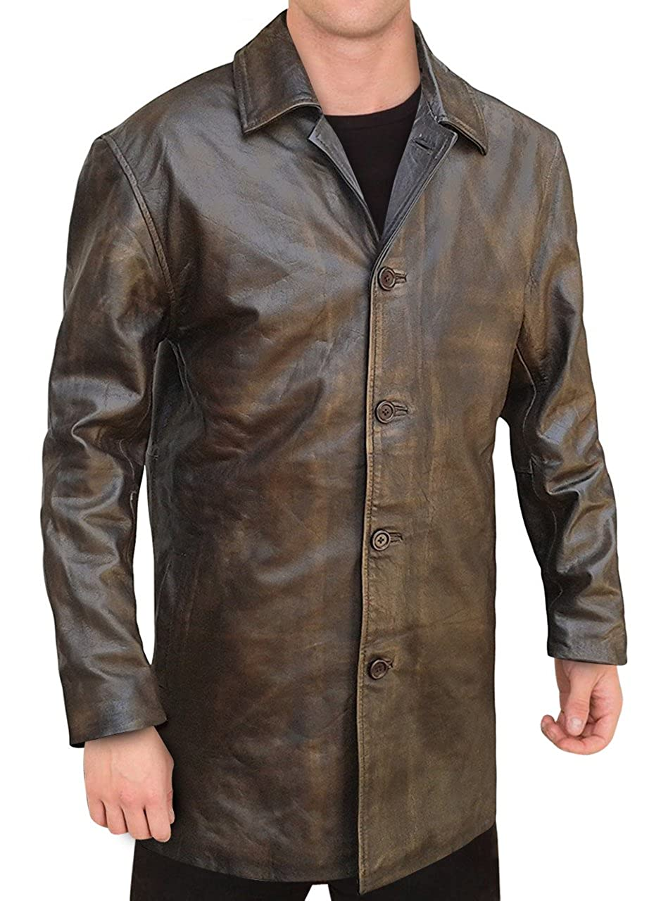 OBX Fashion Dean Winchester Supernatural Distressed Brown Real Leather Coat Jacket