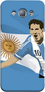 ColorKing Football Messi Argentina 15 Blue shell case cover for Samsung A8
