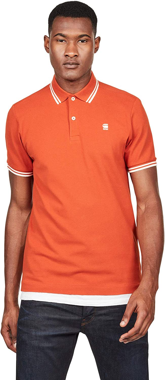 Polo G-Star Hombre Naranja DUNDA Slim Stripe Polo SS Royal Orange ...