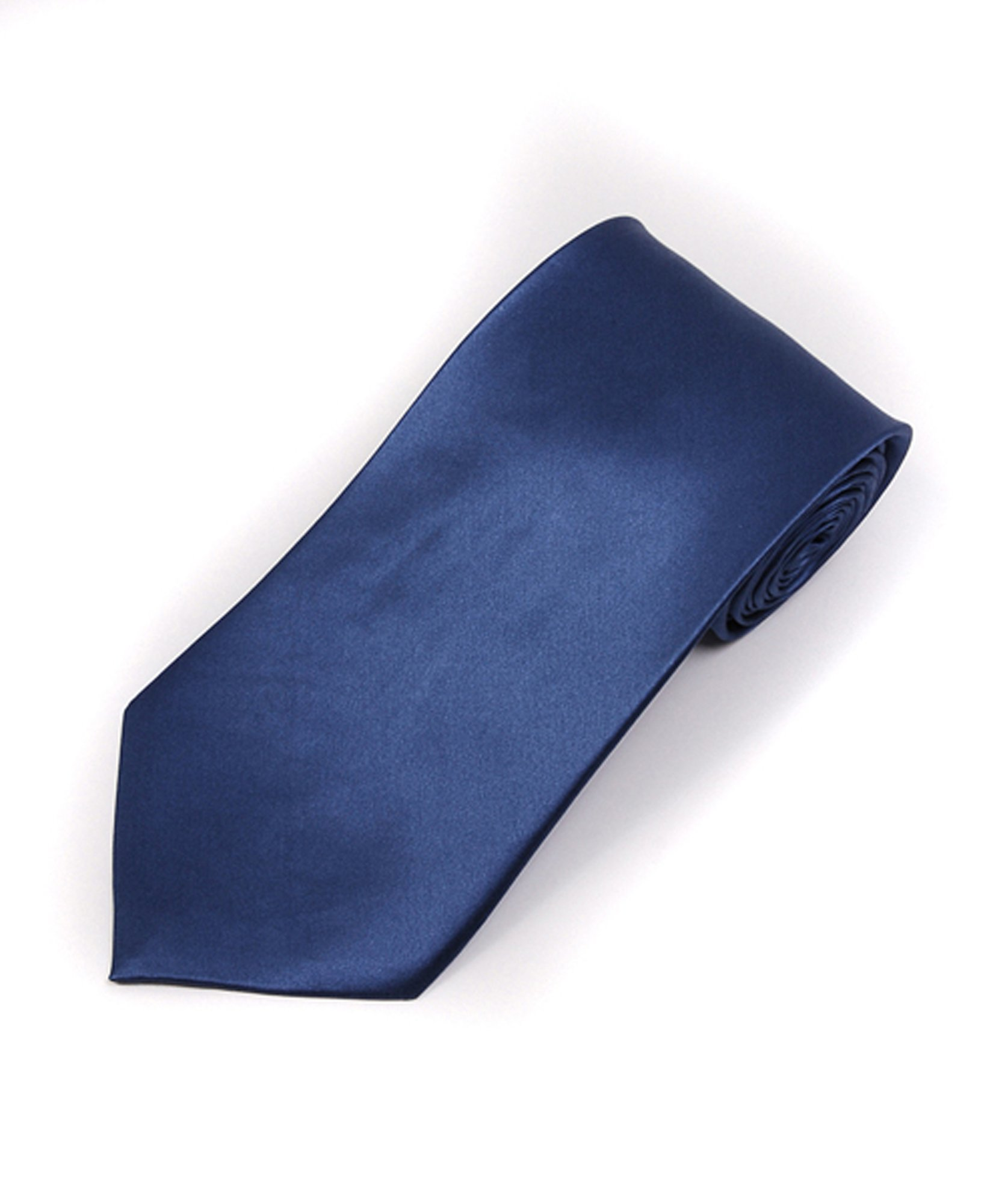 Soild Silk Mens Plain Multi Color Tie, French Blue by boxed-gifts