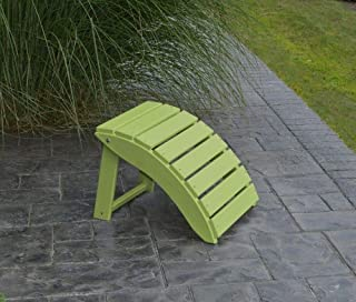 product image for Outdoor Poly Folding Ottoman - Lime Poly Lumber - Amish Green