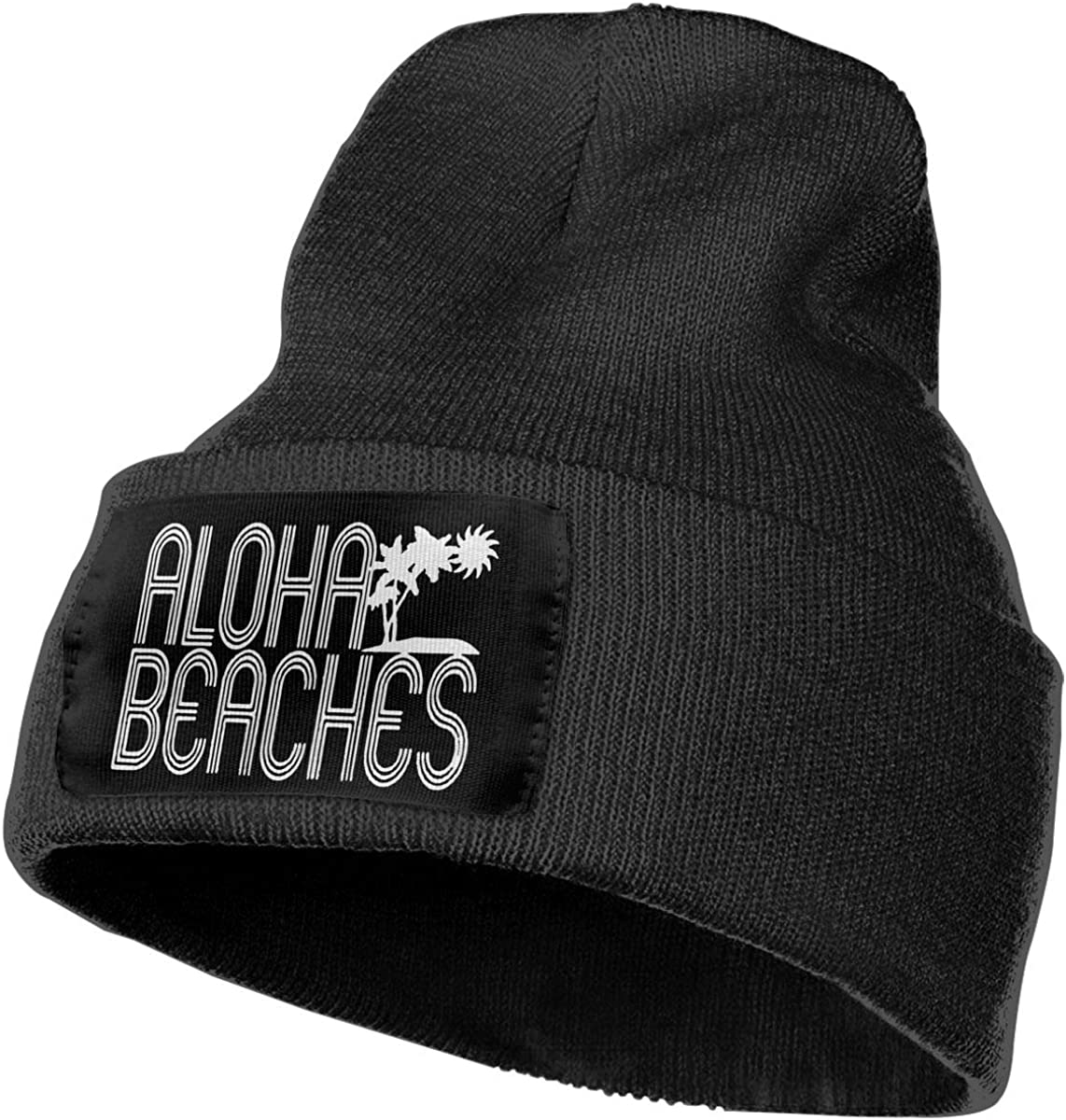 Unisex Aloha Beaches Outdoor Warm Knit Beanies Hat Soft Winter Knit Caps