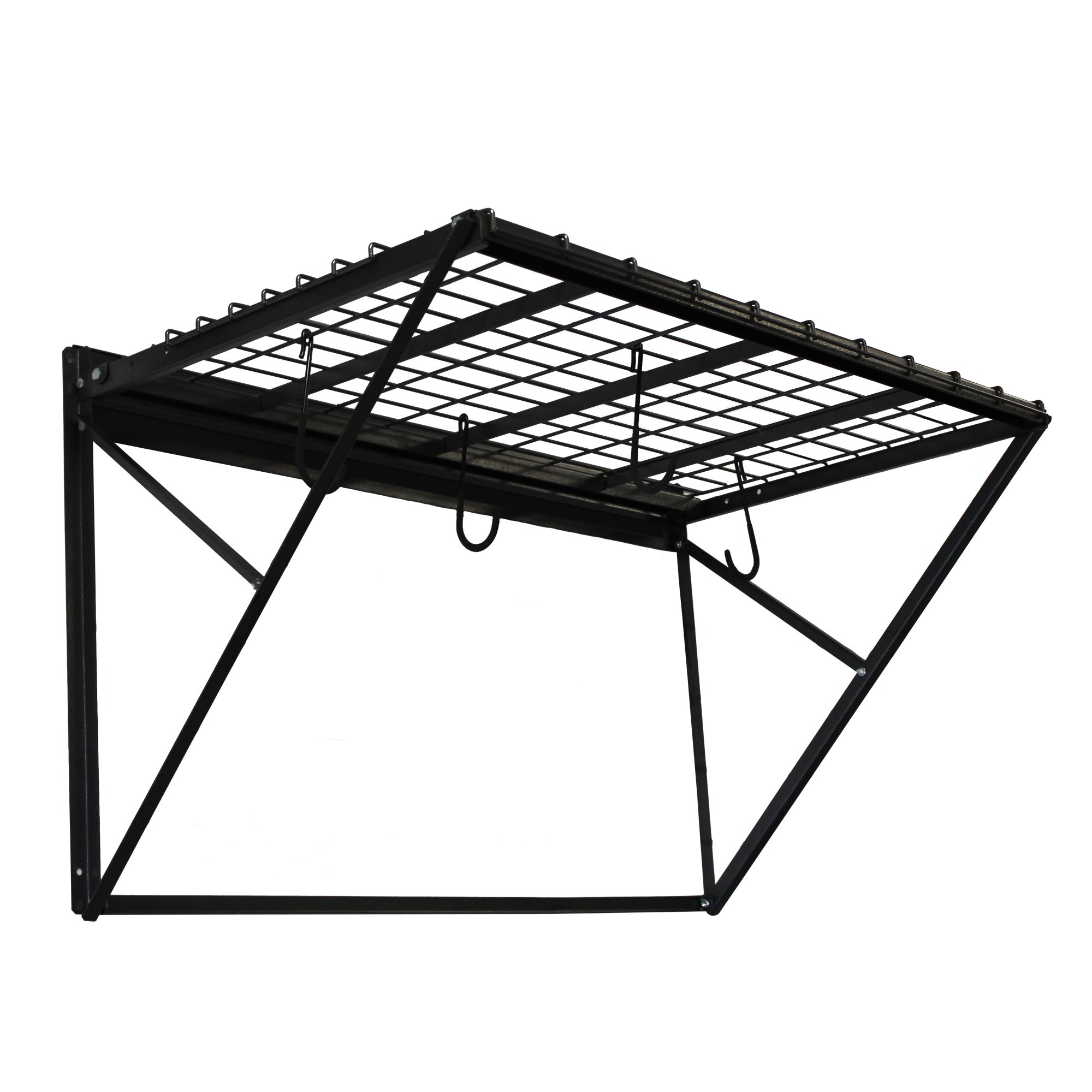 Proslat 60001 ProRack Heavy Duty Wall Mount Metal Storage Shelf with 4' Section, Charcoal Granite