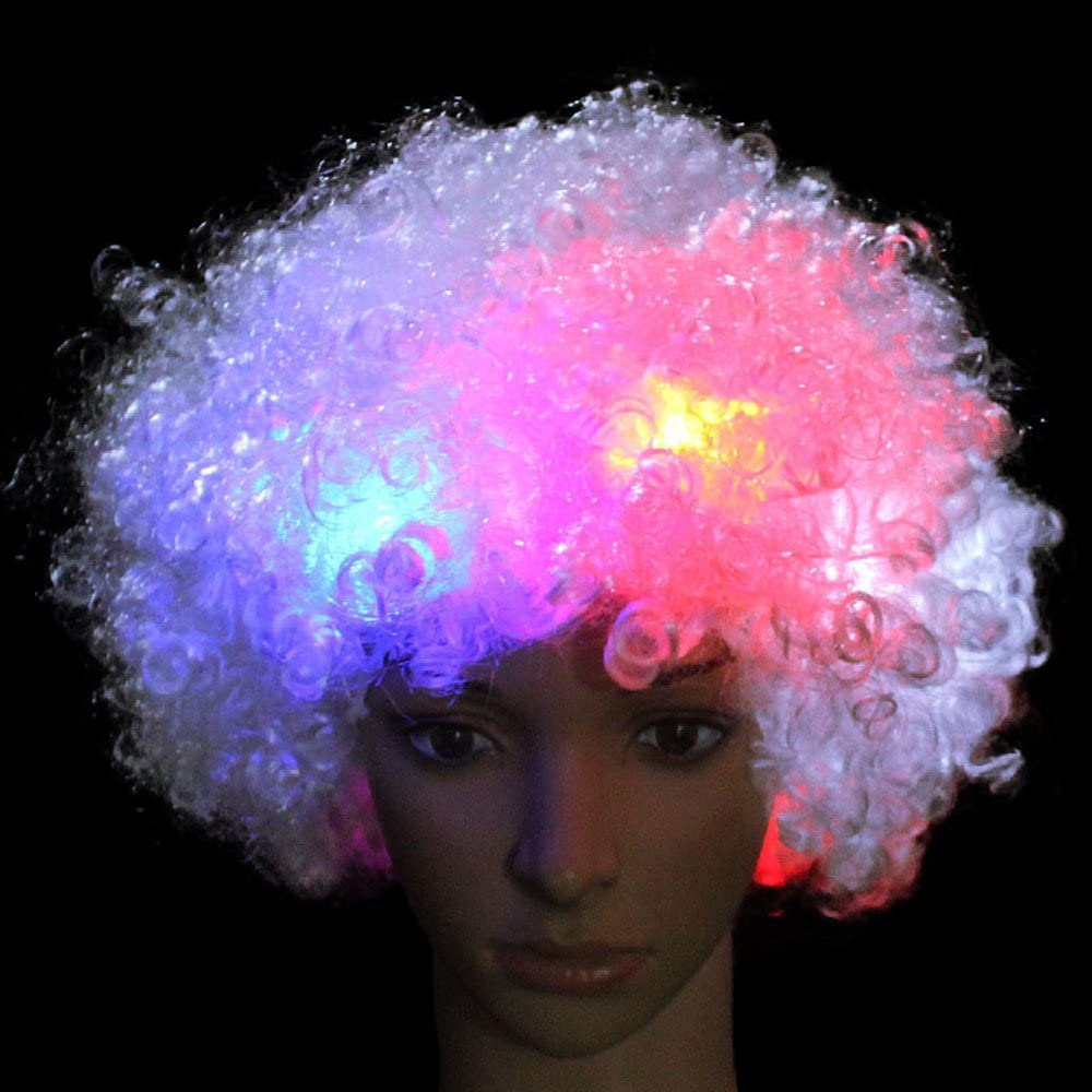 Clown Wig Cosplay Wig,Halloween Party Costume ARDUX LED Flash Explosion Wig Beautiful Afro Wig,Fancy Dress Parties Wig
