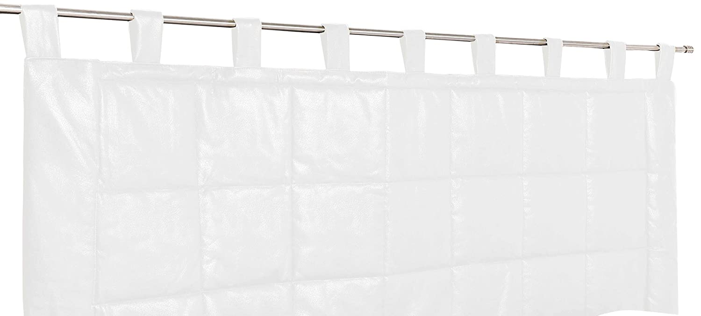 Linder Weston 0523/10/807/160 - Testiera imbottita, materiale: poliestere/cotone, colore: bianco, dimensioni: 70x160cm 0523 /10/807/160