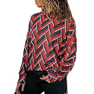 Women's Long Sleeve Turtle Neck Top Fall Shirts Cold Shoulder Tops Sweatshirt at Women's Clothing store