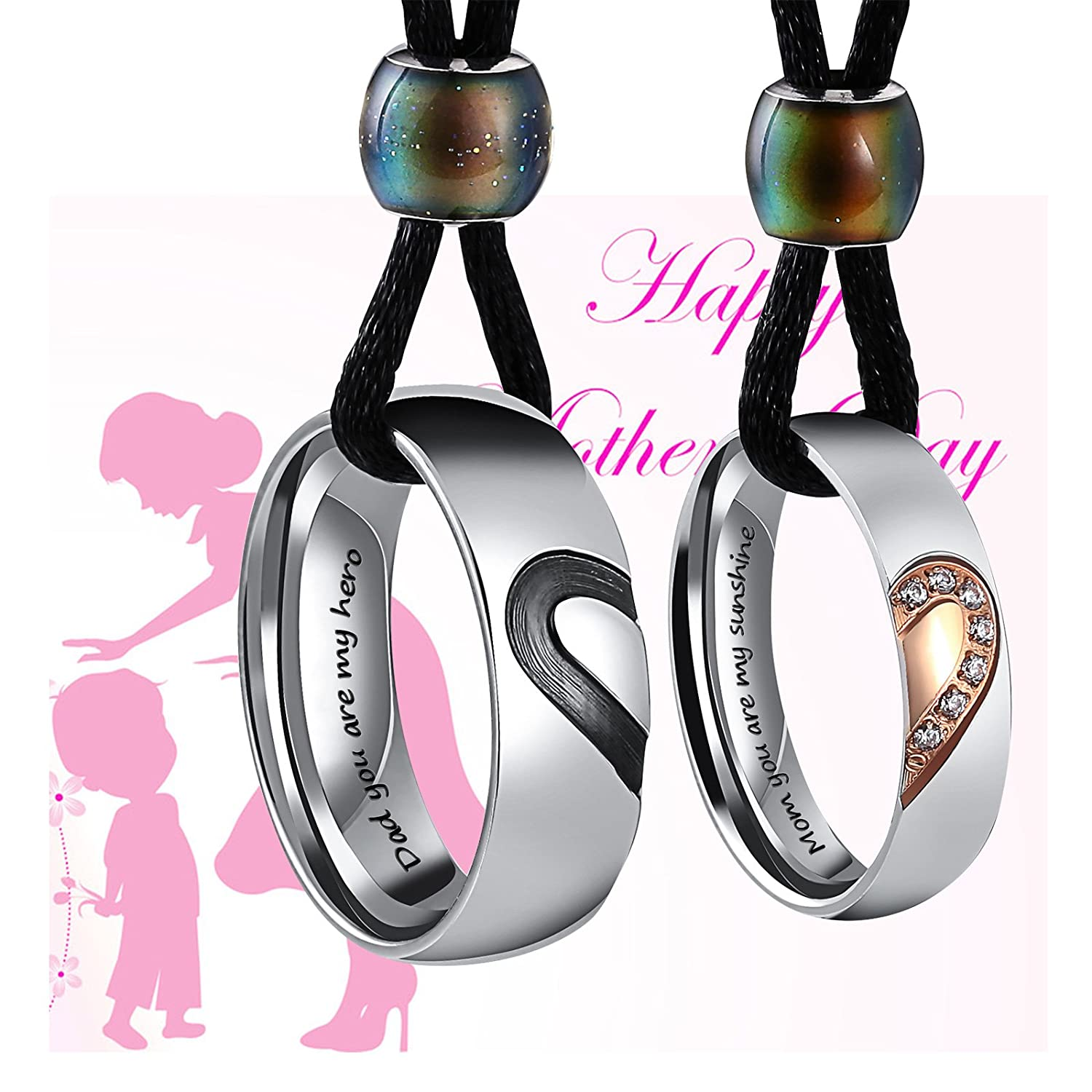 Aienid Couples Necklace for Him and Her Stainless Steel Heart Always Pendant for Chains CHXN17N-XY-004