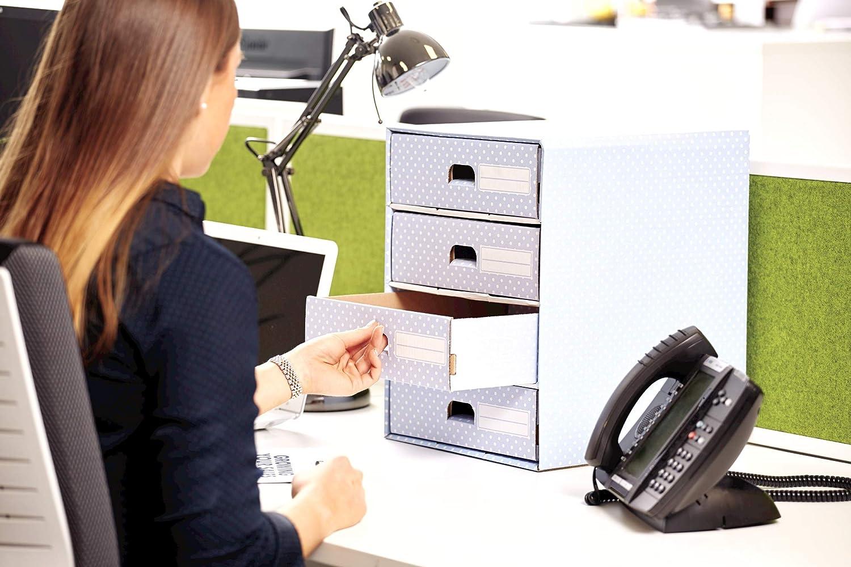 Bankers Box Style - Módulo con 4 cajones, azul y blanco: Amazon.es ...