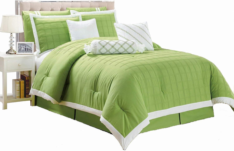 Amazon Com Legacy Decor 9 Pc Pleated Microfiber Comforter Set
