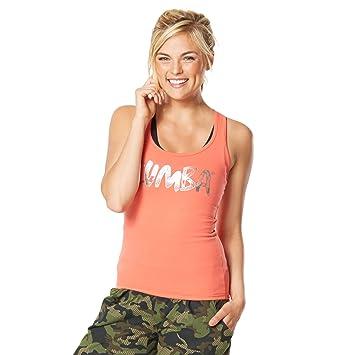 Zumba Fitness® Camo - Camiseta sin Mangas para Mujer, Color Naranja, Talla XXL: Amazon.es: Deportes y aire libre
