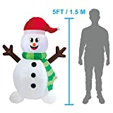 Joiedomi 5 Foot Snowman Inflatable LED Light Up