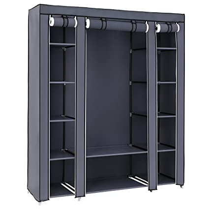 Songmics 59 closet organizer wardrobe closet organization portable closet shelves closet storage organizer with