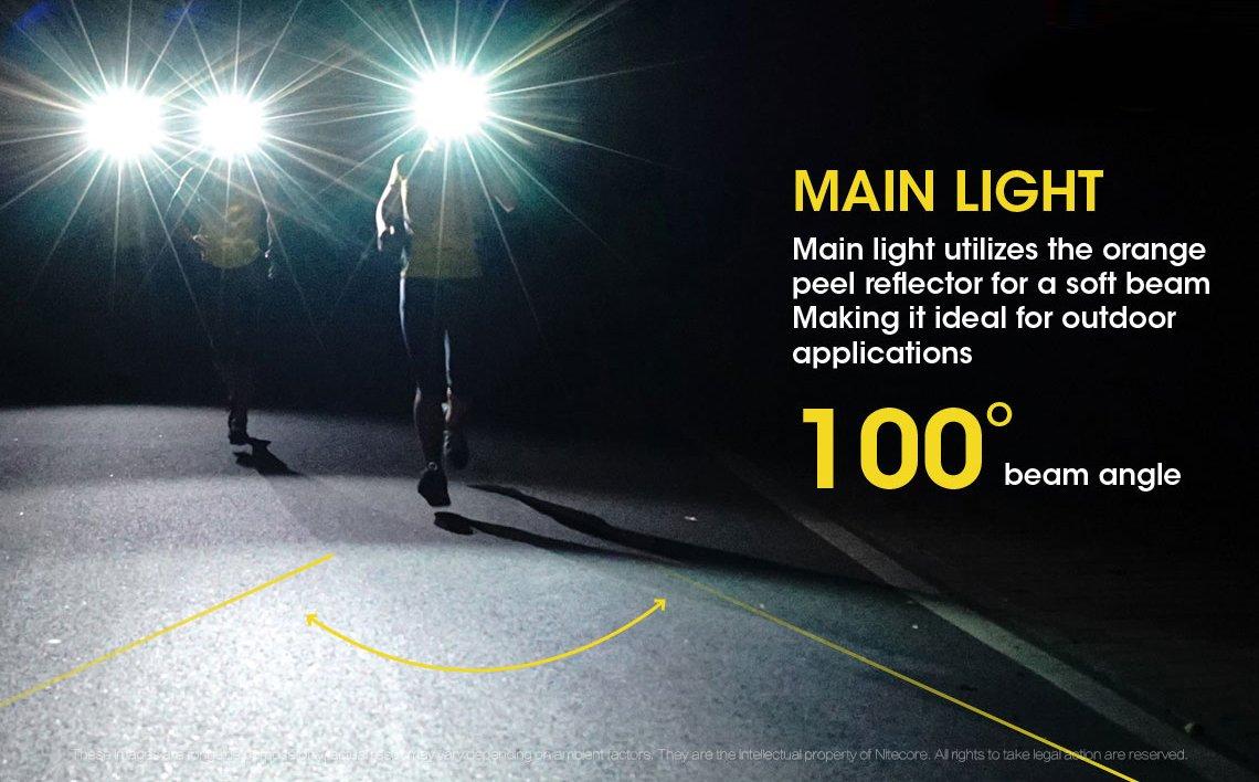 Nitecore NU25-3 Lichtquellen Rotlicht integr Akku und Ladefunktion