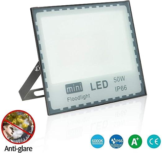 LEDMO focos led Exterior 50W Blanco cálido,Foco proyector led IP65 Impermeable,focos led Super Brillante SMD2835 5000lm Exterior focos led,para el ...