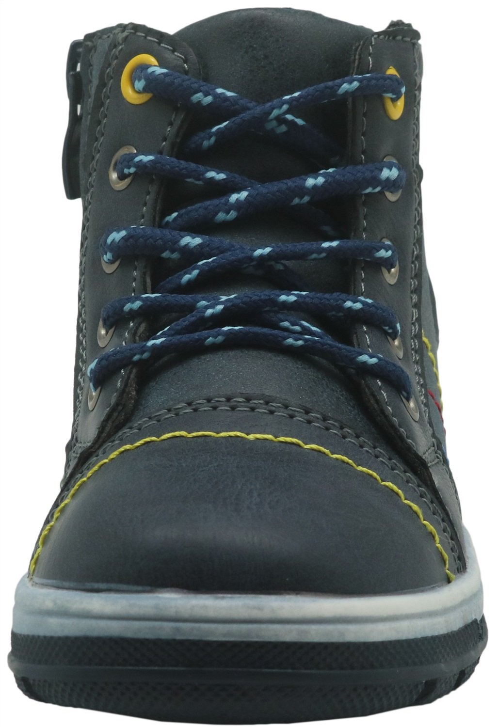 Color : Navy , Size : 8.5 M US Toddler Non-Slip Boys Lace up Shoes Side Zipper Ankle Boots Toddler Durable