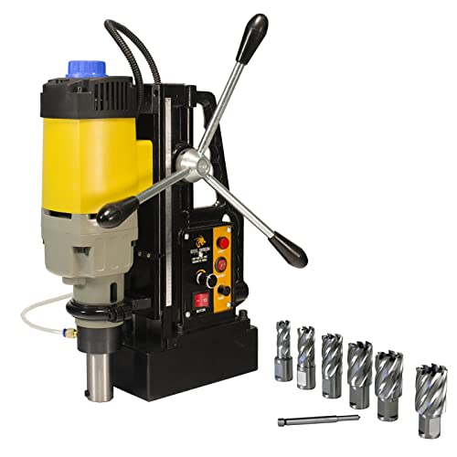Steel Dragon Tools MD50 Magnetic Drill with 7pc 1in. HSS Annular Cutter Kit