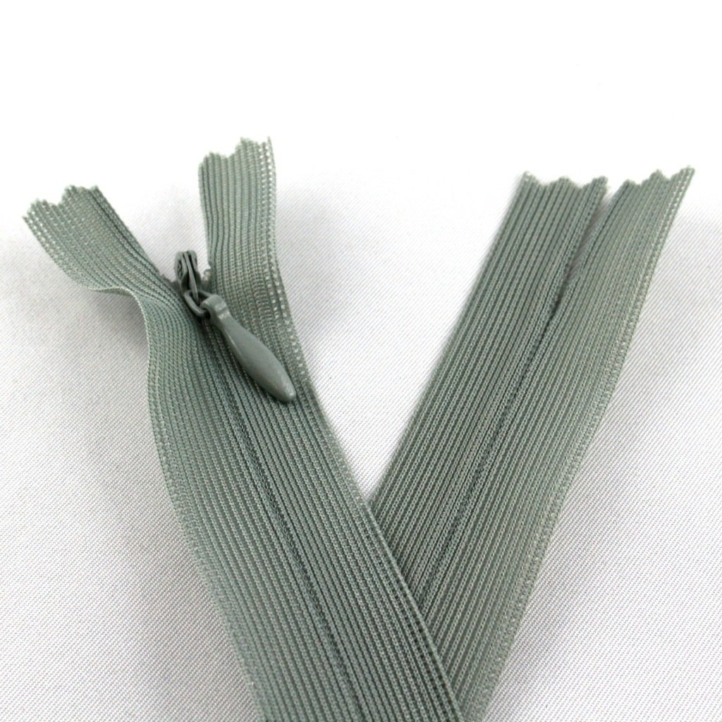 Basteln, Malen & Nähen kawenSTOFFE nahtverdeckter Reißverschluss 60 cm zementgrau