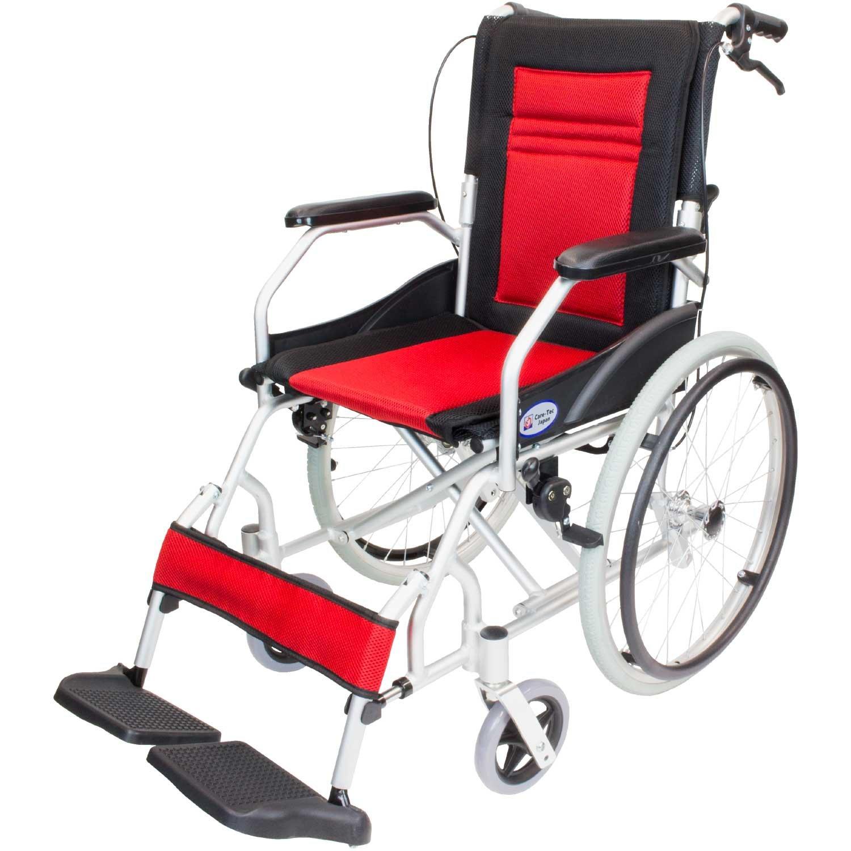 ケアテックジャパン 自走式アルミ製車椅子 CA-12SU ハピネスライト (レッド) B01MYB5T36 レッド レッド