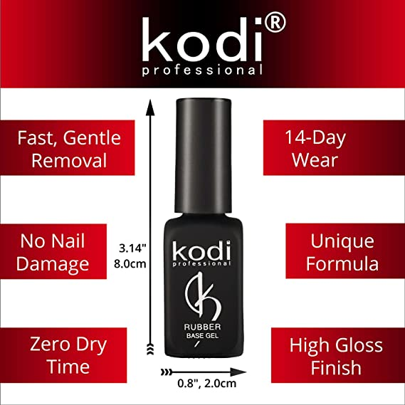 Buy Kodi Professional Rubber Top & Base Coat Soak Off Gel Polish Led ...