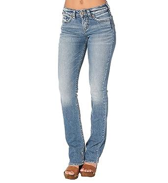 fe06c451 Silver Women's Avery Slim Boot Medium Wash Jeans - L94627sjl204 at Amazon  Women's Jeans store