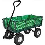 Sunnydaze Garden/Utility Cart Liner, Green - Includes Liner ONLY